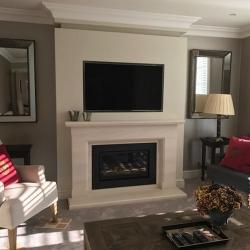 Boston limestone fireplace Studio 1