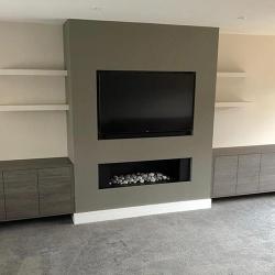 Modern Gas bespoke fireplace