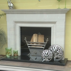 bespoke made to measure barnfield fire surround with granite hearth